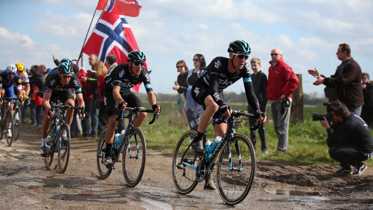 Gianni Moscon (middle) has focused on the race since finishing eighth in the E3 Harelbeke a fortnight ago