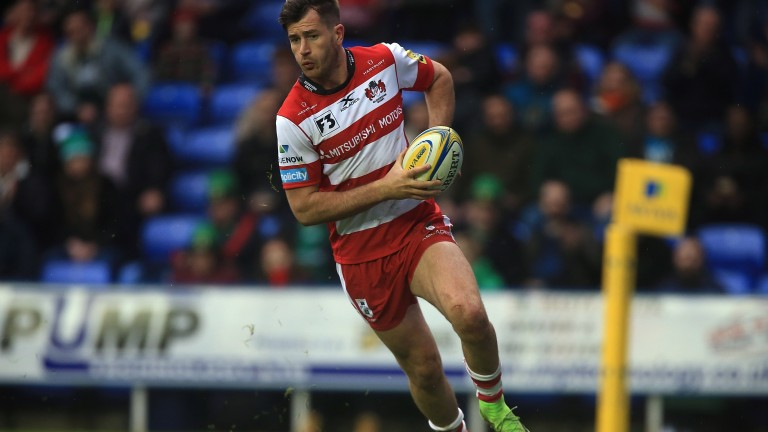 Mark Atkinson scores a try for Gloucester in their win over London Irish