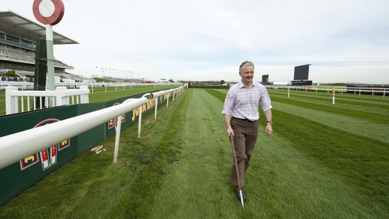 Aintree clerk of the course Andrew Tulloch: reported improved conditions on Wednesday