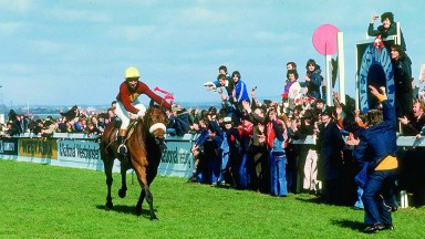 Red Rum wins the 1977 Grand National at Aintree