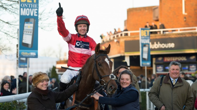 Silviniaco Conti and Noel Fehily return in triumph after landing the 2013 King George VI Chase at Kempton