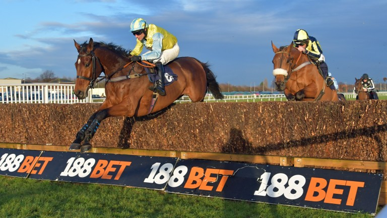 I Just Know and Danny Cook head for victory at Doncaster last year