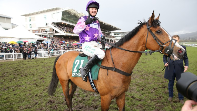 Bridget Andrews and Mohaayed after their County Hurdle victory in 2018