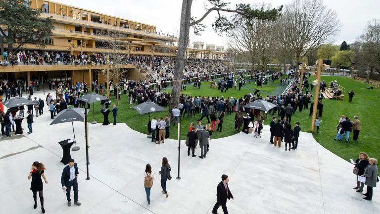 Racegoers discover the newly rebuilt Longchamp