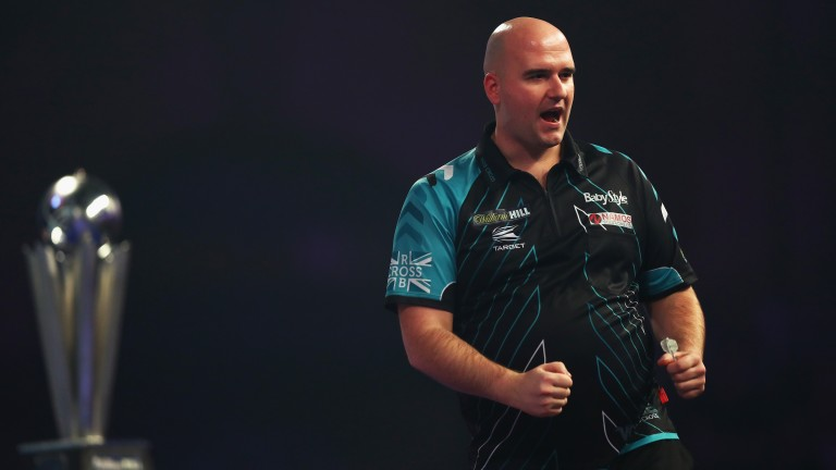 Rob Cross celebrates at the World Darts Championship, where hundreds of thousands of pounds is spent on security
