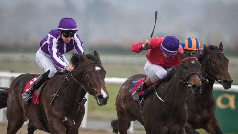 Skitter Scatter (centre) won the Silver Flash Stakes