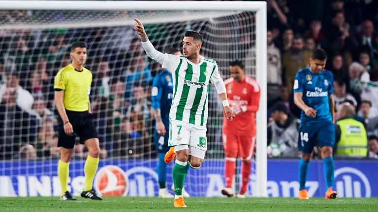 Real Betis striker Sergio Leon