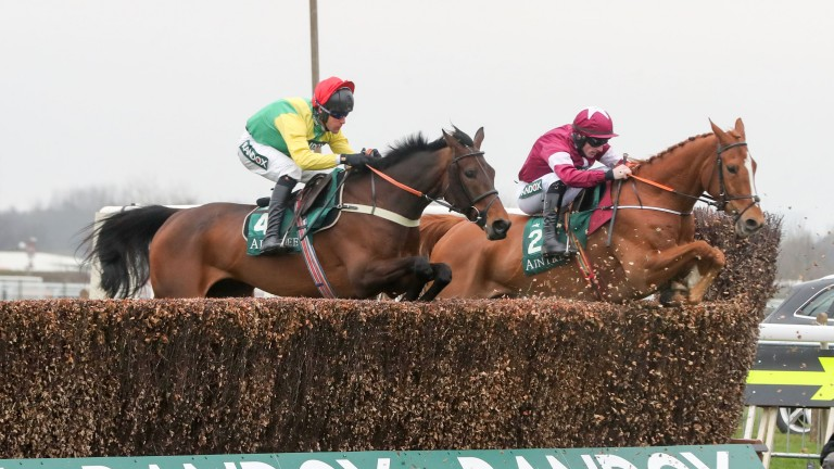 Finian's Oscar (near side): plan is to run him at next week's Punchestown festival