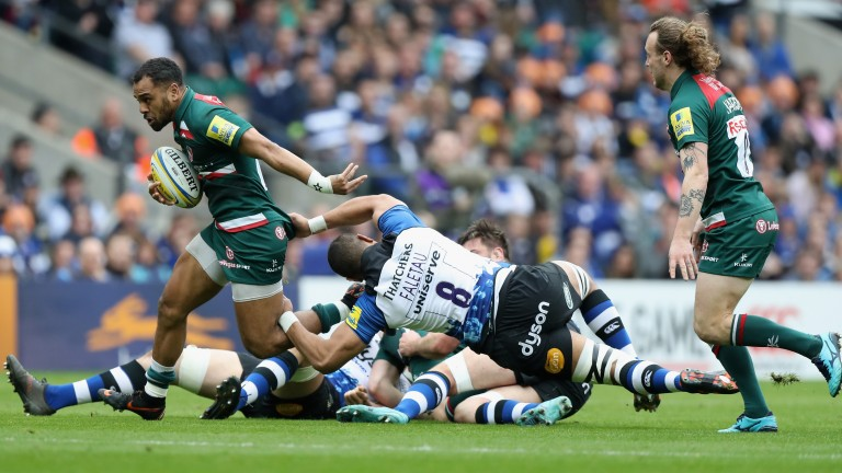 Telusa Veainu scored one of Leicester's five tries against Bath last week