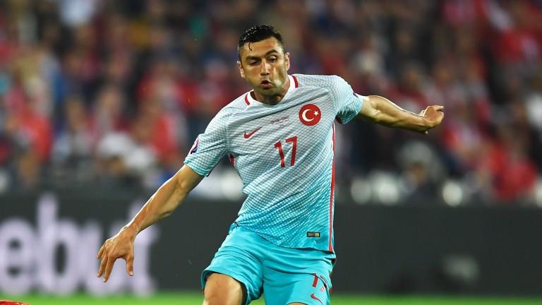 Trabzonspor's top scorer Burak Yilmaz at Euro 2016