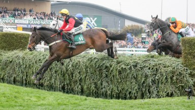 ULTRAGOLD (Harry Cobden) wins The Randox Health Topham Chase at AINTREE GRAND NATIONAL MEETING  13/4/18Photograph by Grossick Racing Photography 0771 046 1723