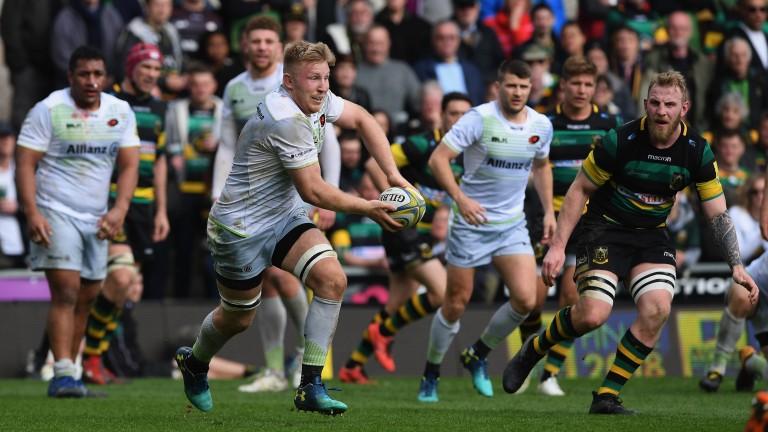 Saracens ran in nine tries against Northampton in round 19
