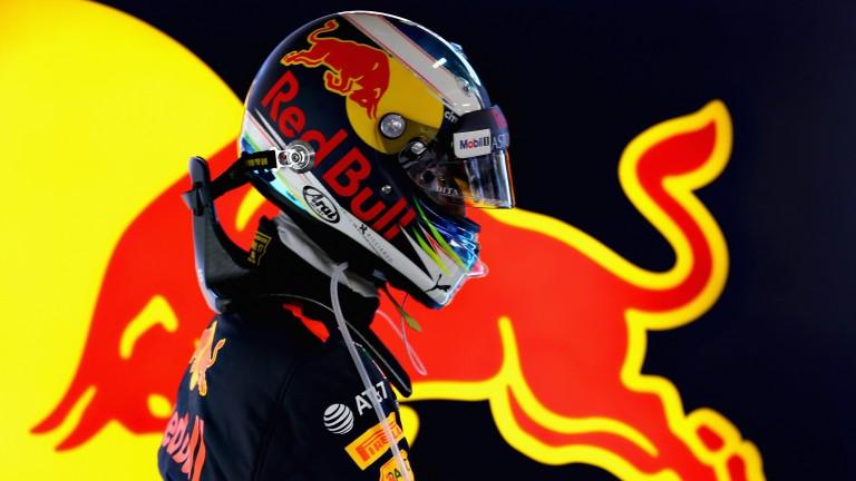 Daniel Ricciardo prepares to climb into his Red Bull