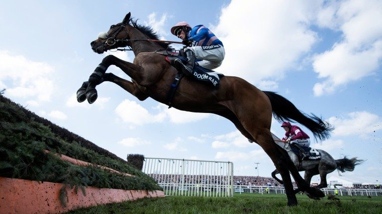 Seeing a stride: Diego Du Charmil lets fly under Harry Cobden on his way to victory