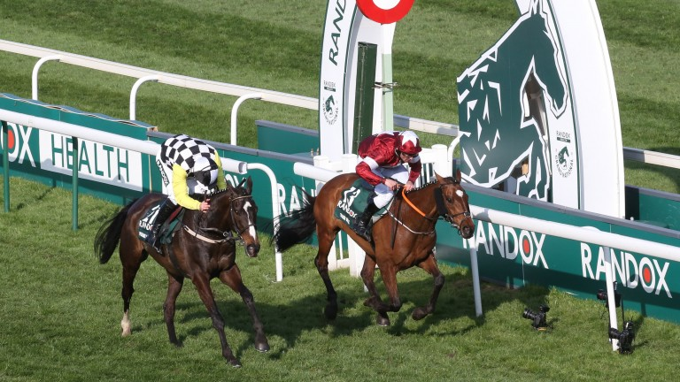 Pleasant Company (left) just fails to reel in Tiger Roll