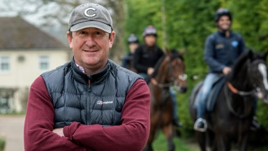David Simcock at home with his strong 2018 team at Trillium Place in Newmarket