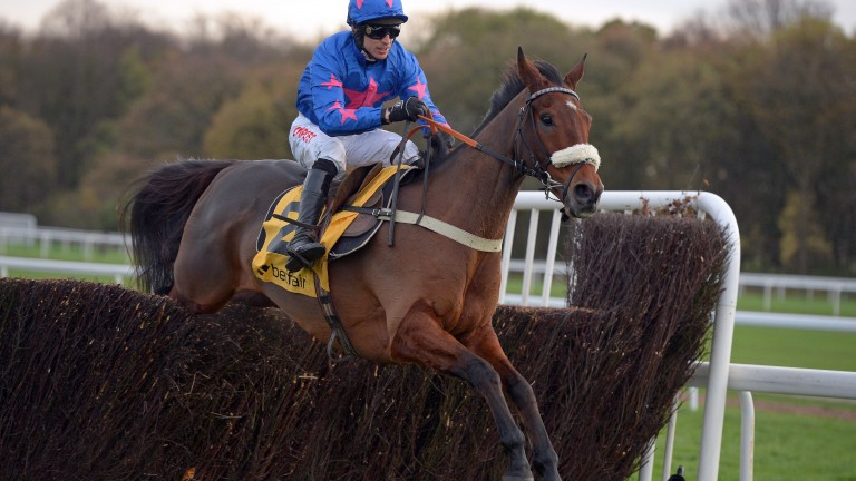 Cue Card and Paddy Brennan win the 2015 Betfair Chase at Haydock