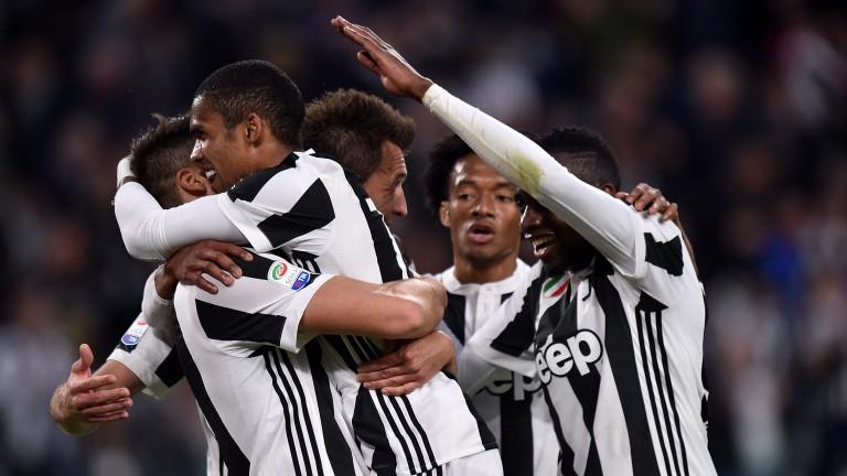 Juventus celebrate a goal against Sampdoria