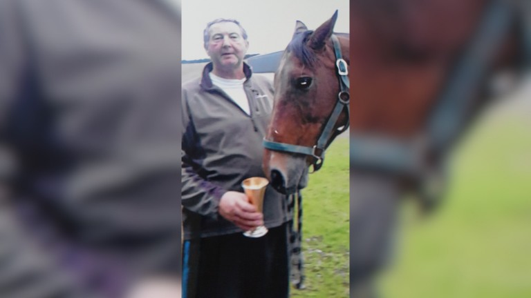 Rowland Crellin and Wicked Crack, together with the Dudgeon Cup, which is awarded to the National Hunt Broodmare of the Year
