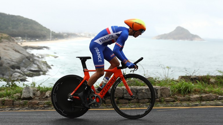 Julian Alaphilippe rides for France at the 2016 Olympics