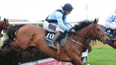Yourelookinwell and Jamie Codd on their way to an impressive victory at Rathcannon