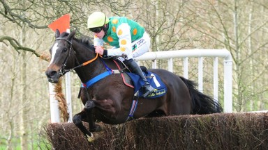 Beyondapproach and Barry O'Neill on their way to a fine victory at Bellurgan Park
