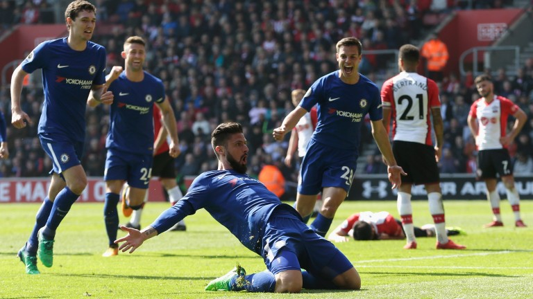 Olivier Giroud inspired a dramatic Chelsea comeback at Southampton