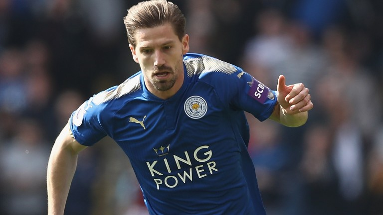 Adrien Silva of Leicester City in action