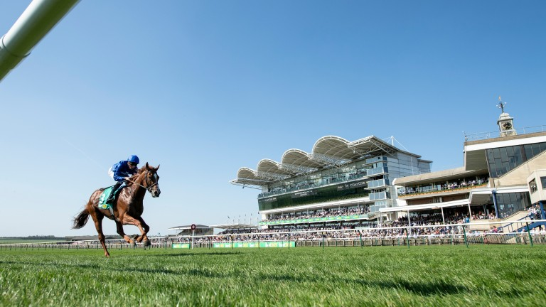 Masar (William Buick) wins the Craven by 9 lengthsNewmarket 19.4.18 Pic: Edward Whitaker
