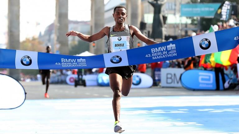 Kenenisa Bekele of Ethiopia won the Berlin Marathon in 2016