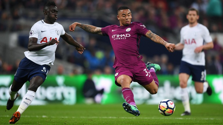 Gabriel Jesus was on target for Manchester City against Tottenham