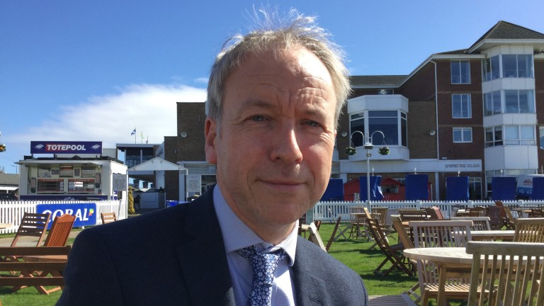 Ayr managing director David Brown is full of hope that Flat racing will resume next month