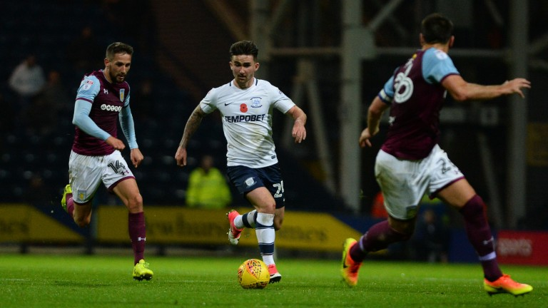 Preston's top goalscorer Sean Maguire is back on the bench