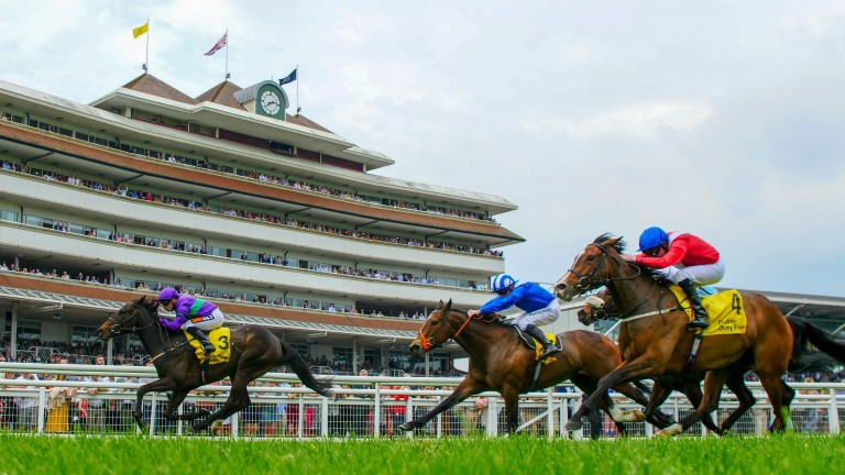 Dan's Dream runs out a cosy winner of the Dubai Duty Free Stakes at Newbury on Saturday