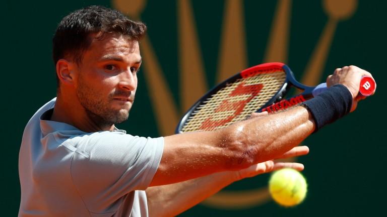 Grigor Dimitrov faced Rafael Nadal in Monte Carlo last week