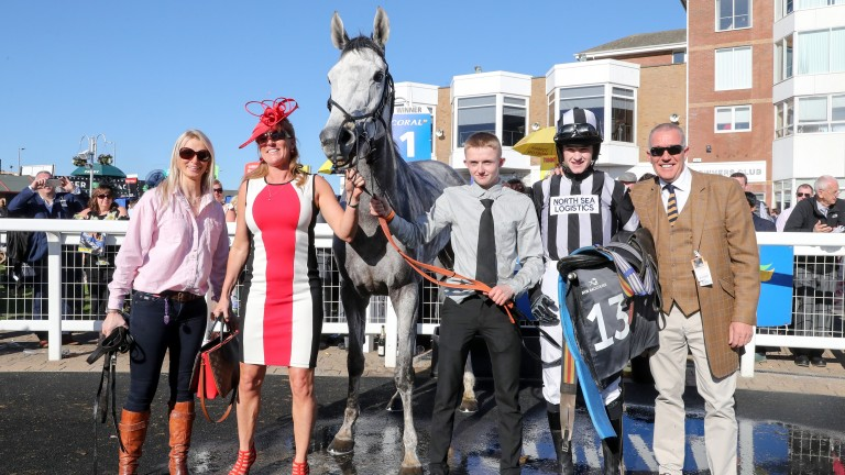 COOL MIX Ridden by Mr Liam Quinlan wins at AYR 21/4/18Photograph by Grossick Racing Photography 0771 046 1723