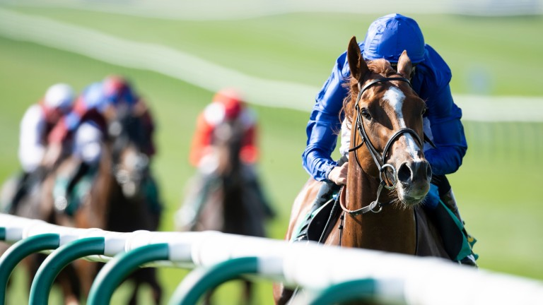 Masar wins the Craven by nine lengths for Godolphin