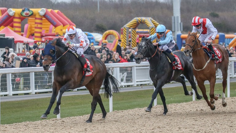 Gronkowski and Jamie Spencer win the Burradon Stakes at Newcastle in March