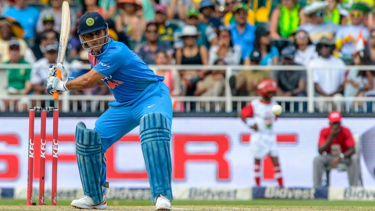 Chennai's captain MS Dhoni in a T20 game for India