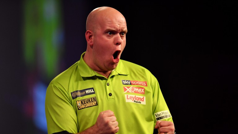 Michael van Gerwen is in action twice at Manchester Arena