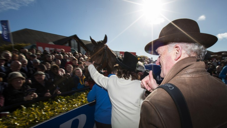 Mullins mania: the Closutton maestro looks on after Bellshill's triumph - the third of six consecutive winners on the day
