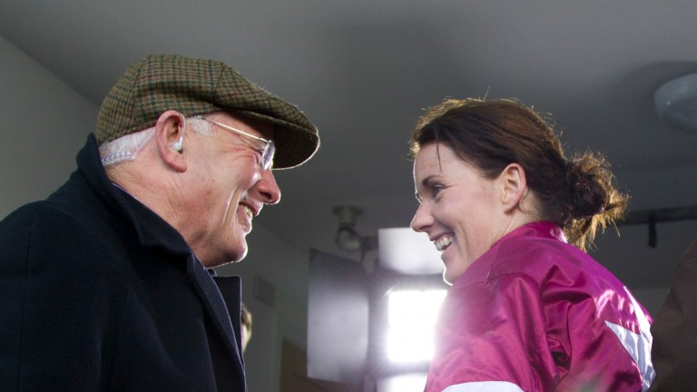 Katie Walsh with her biggest fan and father, Ted