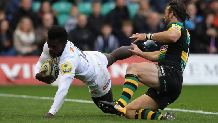 Christian Wade scores for Wasps in their victory at Northampton earlier this season