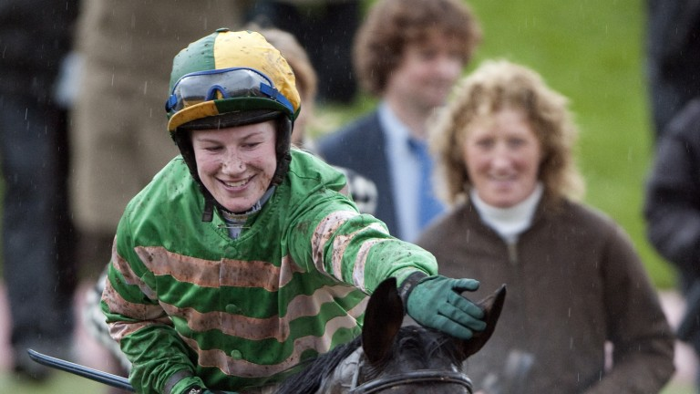Back for more: Nina Carberry wins a third of four Glenfarclas Chases over the cross-country fences at the Cheltenham Festival; this time aboard Garde Champetre in 2009