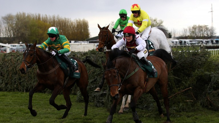 History maker: Katie Walsh enjoys a memorable day at Aintree in 2012 when finishing third aboard Seabass in the Grand National, which remains the best-ever result for a female rider in the race