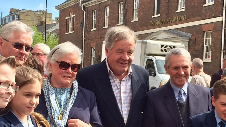 (From left to right) Michael Swinburn, Doreen Swinburn, Sir Michael Stoute and Wally Swinburn at the unveiling