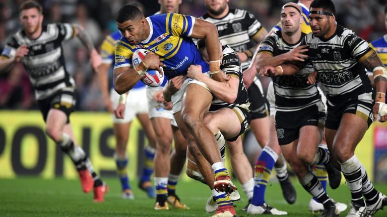Leeds' Kallum Watkins charges through against Hull
