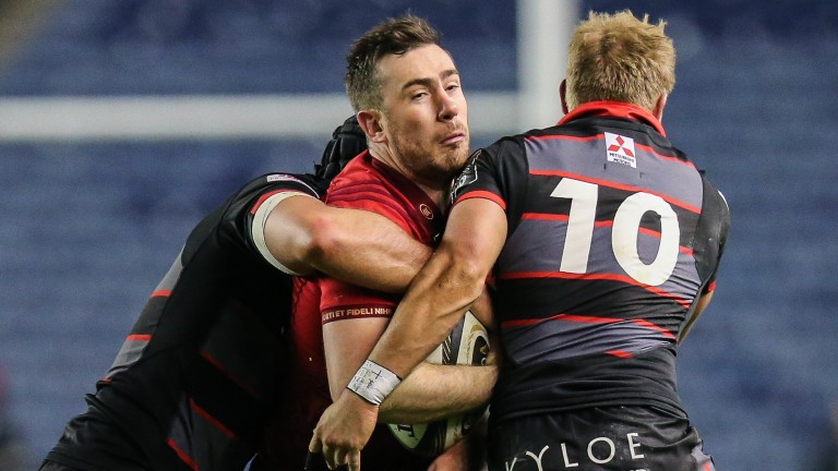 Munster's JJ Hanrahan has nowhere to go against Edinburgh at Murrayfield