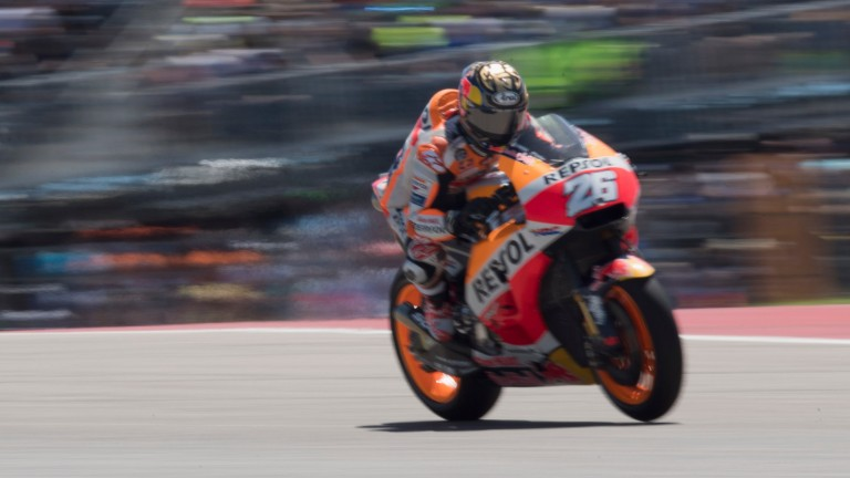Dani Pedrosa managed seventh at Austin despite a wrist injury suffered in the Argentinian race