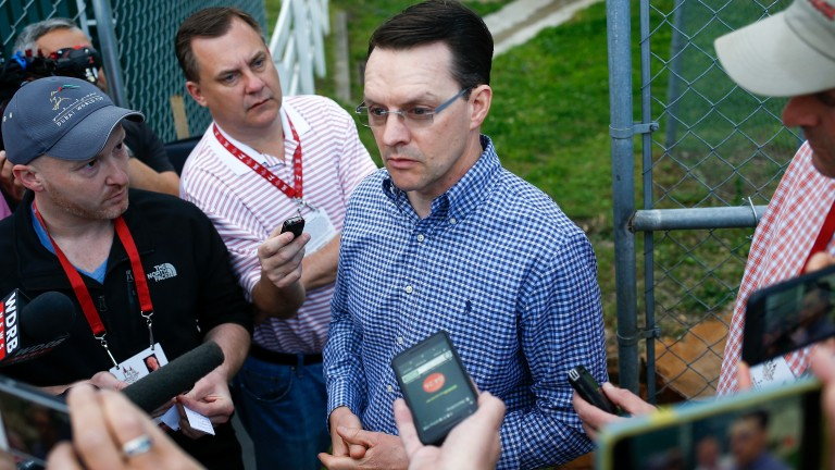 Aidan O'Brien at Churchill Downs for Kentucky Derby